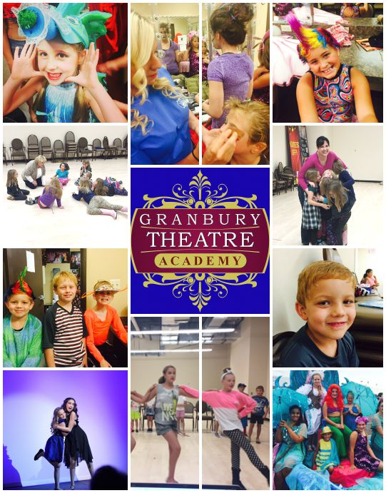 gta, granbury theatre company, collage