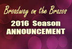 Announcing 2016 Season!